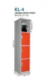 Locker 4 Pintu Kozure KL-4